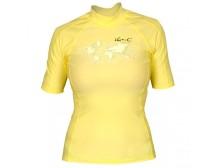 Гидромайка лайкровая iQ, Watersport женская, желтая UV300+