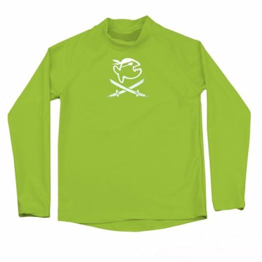 Футболка детская, длинный рукав iQ UV 300+ Jolly Fish, неоновый зеленый