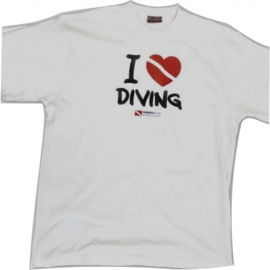 Футболка мужская I love diving