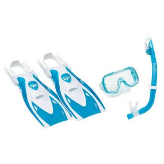 Детский комплект TUSA Mini Kleio (маска, сухая трубка, ласты)
