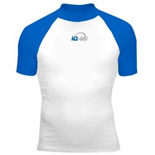 Гидромайка лайкровая iQ, мужская, бело- синяя UV300+