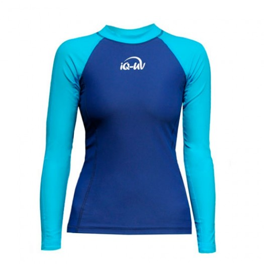 Гидромайка лайкровая iQ, женская, бирюза-синий UV300+