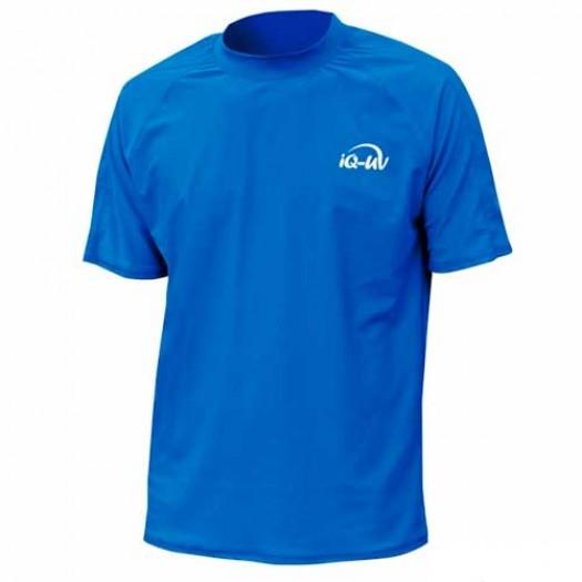 Гидромайка лайкровая iQ, синяя, свободный крой мужская, UV300+