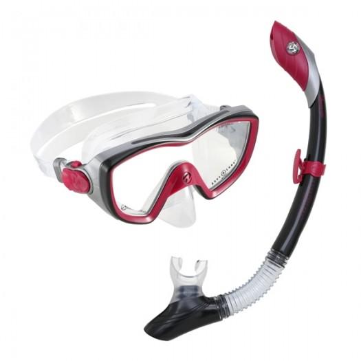 Комплект маска и трубка Aqualung Bonita Pink