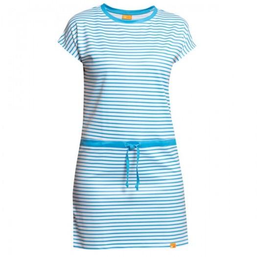 Пляжное платье iQ UV 50+ в полоску белый-синий