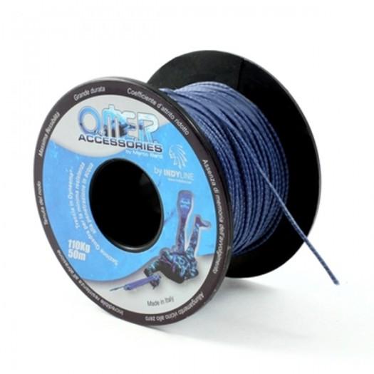 Линь OMER DYNEEMA (нагрузка 110 кг) синий 1 м