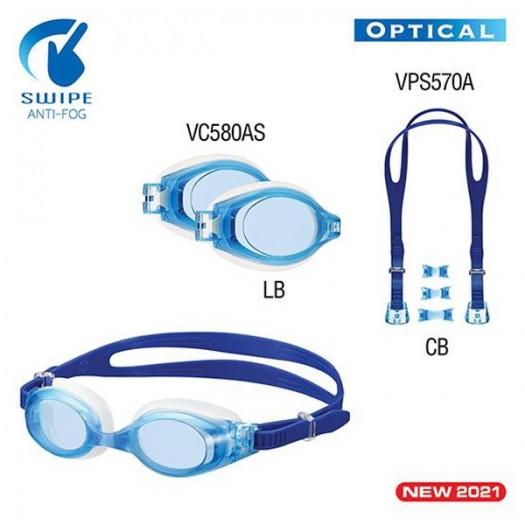 Очки для плавания с диоптрическими линзами VIEW V-580ASA PLATINA SWIPE