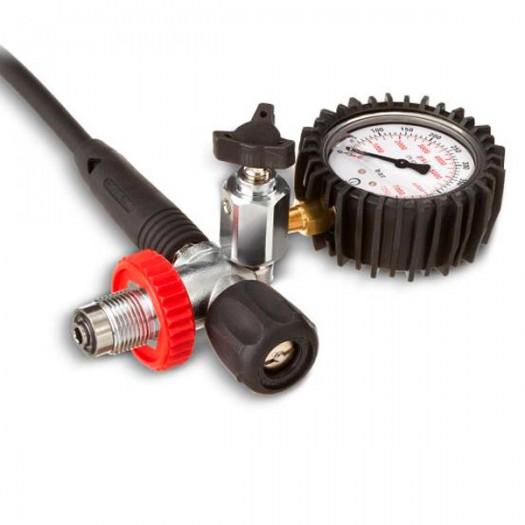 Заправочный штуцер с клапаном сброса давления и манометром, DIN 300bar Coltri Sub