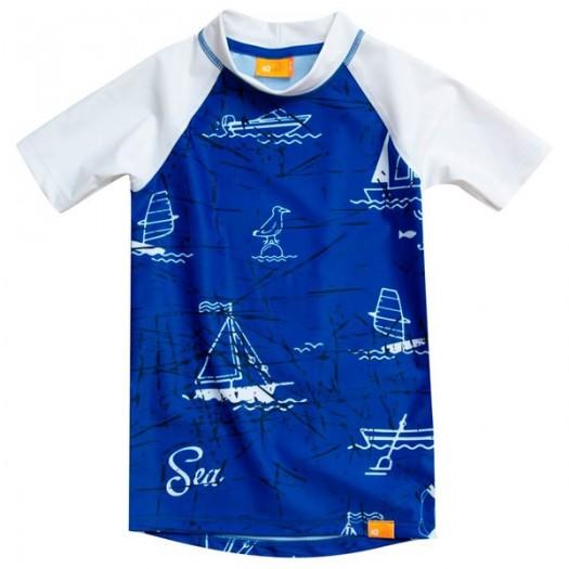 Гидромайка детская IQ UV-230+ Синие паруса, короткий рукав