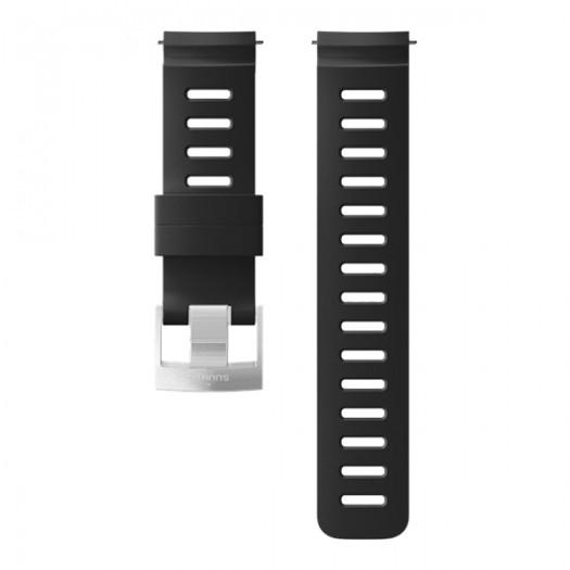 Силиконовый ремешок Suunto Dive 1 - ширина 24 мм Black Steel