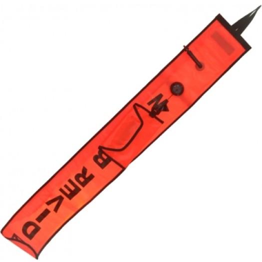 Буй-сосиска AKVILON оранжевый с клапаном и штуцером поддува