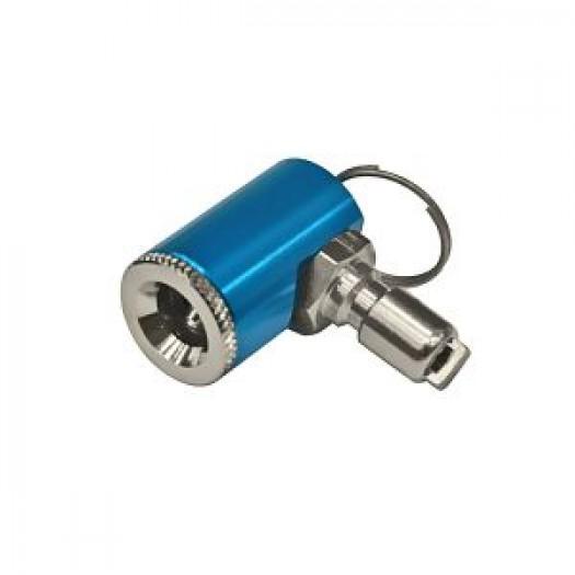 Адаптер аллюминиевый для накачки автомобильных колёс от шланга инфлятора AKVILON