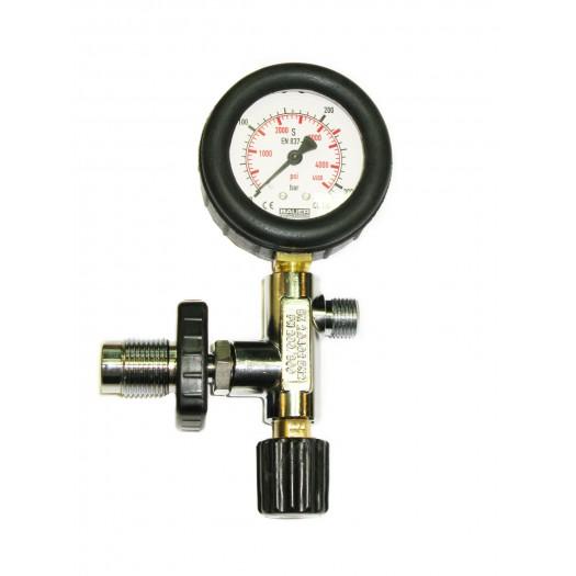 Зарядный вентиль BAUER с манометром 225 BAR